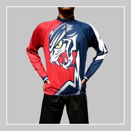 baju sepeda gambar harimau