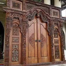 pintu gebyok jati
