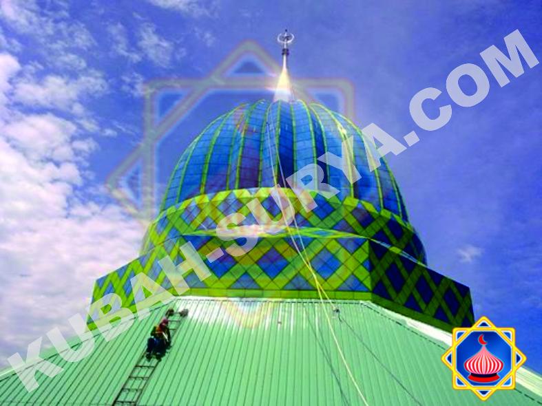 Gambar Kubah Masjid Enamel Sorowako Sinarsuryaabadi