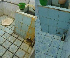 cara membersihkan kamar mandi pakai baking soda